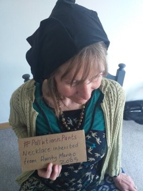 #pollutionispants campaign photo Kathleen