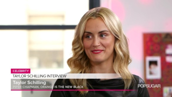 Taylor Schilling on Her Future With Netflix & Past With Zac Efron! POPSUGAR Entertainment.mp4_20160321_142329.503