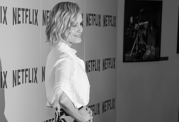"""NEW YORK, NY - AUGUST 11: (EDITOR'S NOTE: Image has been converted to Black & White) Actress Taylor Schilling attends the """"Orange Is The New Black"""" FYC Screening at the DGA Theater on August 11, 2015 in New York City. (Photo by Mark Sagliocco/Getty Images)"""