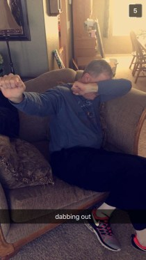 Pops doing the Dab.