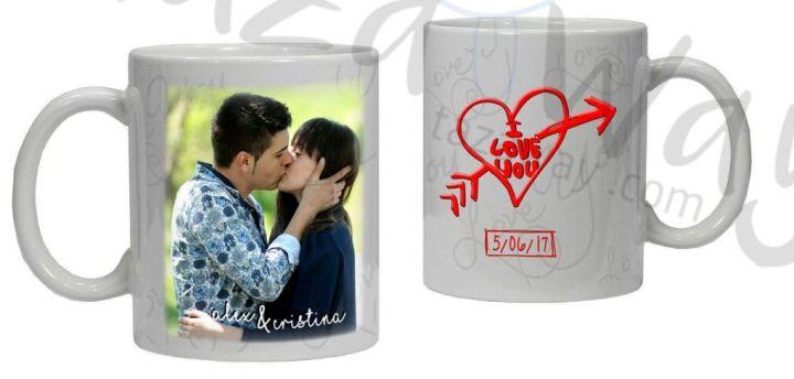 Taza San Valentín I love You