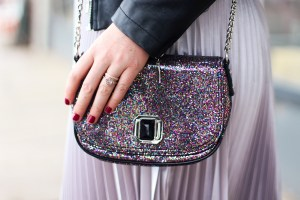 How to Style a Metallic Skirt and New Year's Resolutions