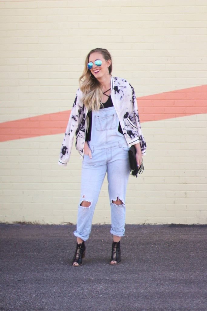 spring denim trends, overalls, fringe, lace up heels