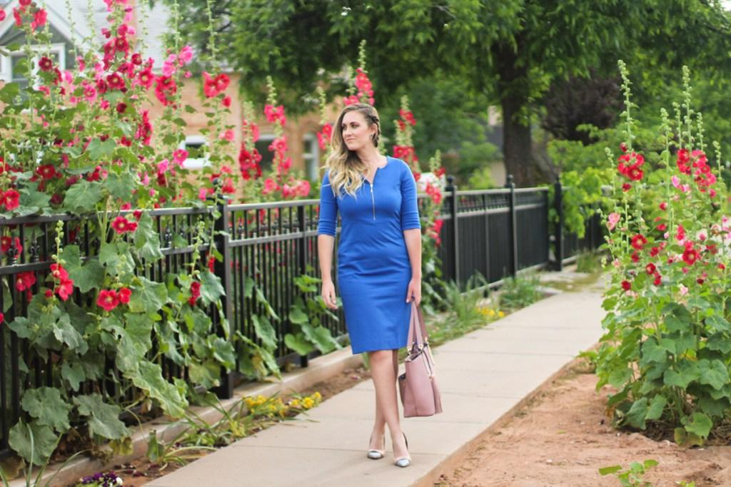 Modest Dresses for Under $100, spring outfit ideas, cobalt blue