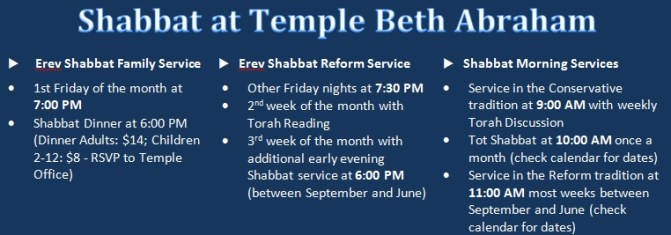 Shabbat Times Graphic