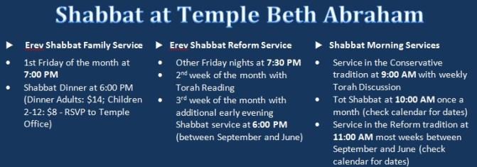 Shabbat Times Graphic