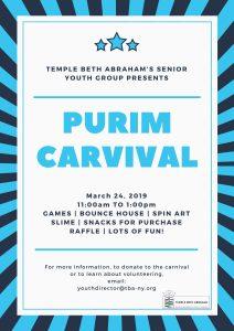 2019-03-24 ZEETY Purim Carnival - Temple Beth Abraham