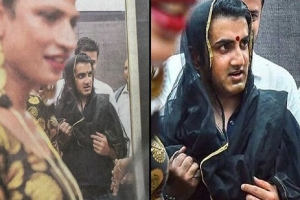 Former Indian cricketer Gautam Gambhir wears bindi and saree to support transganders