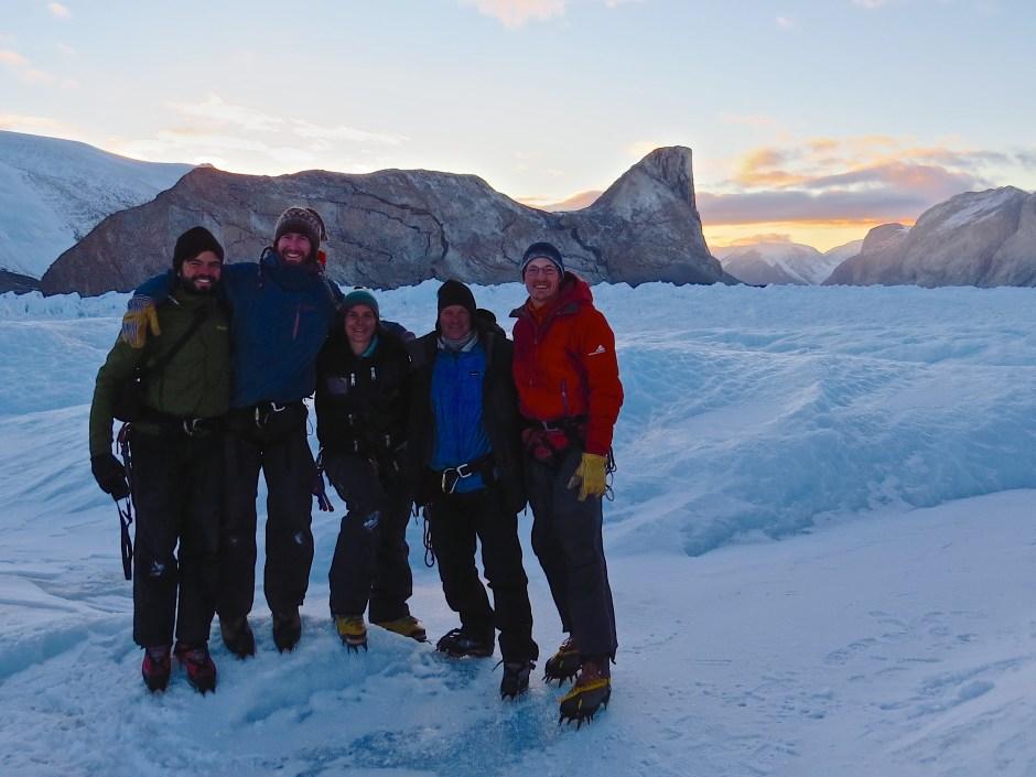 Field team at Kangerlussuup Sermia, Greenland