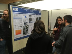 Margot Vore presents her research on the seismic signals produced by subglacial water flow.