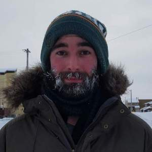 Chris Miele in the Arctic