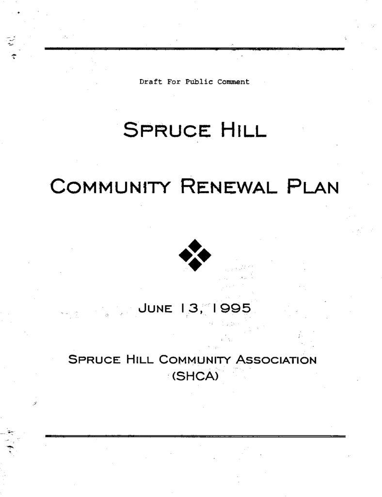 thumbnail of SHCA Community Renewal Plan 1995
