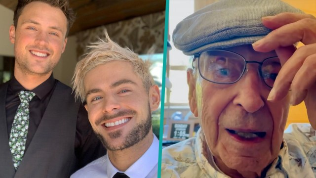 Zac and Dylan Efron sneaking their Grandfather out of his retirement home is the cutest thing