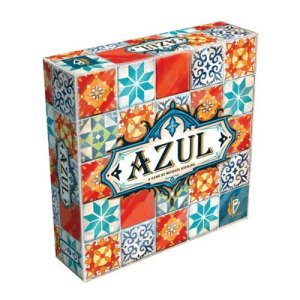 """Azul"" box art, game created by Michael Kiesling."