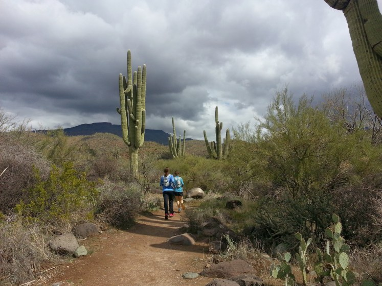 Running with Anne Marie and Josh at Spur Cross Ranch in Arizona - 2014
