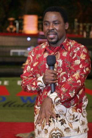 TB Joshua - We are who, where and what we are by grace. Let no man boast.