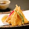 湯葉の天ぷら 抹茶塩で