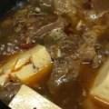 牛スジ豆腐の地獄煮
