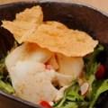 カリカリ湯葉と手造り豆富のゴマダレサラダ