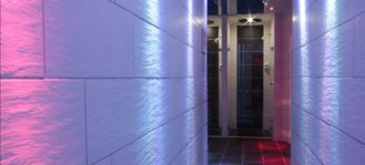 Corridoio per le saune del TBlue Milano