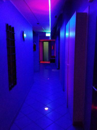 Corridoio del TBlue Sauna Milano