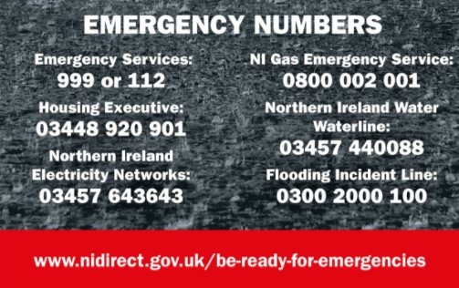 Northern Ireland Emergency Contact Numbers