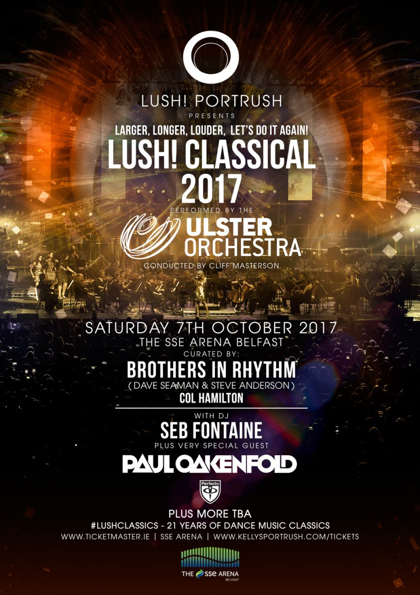 Lush! Classical 2017 : Belfast, SSE Arena, Northern Ireland, Saturday 7th October 2017