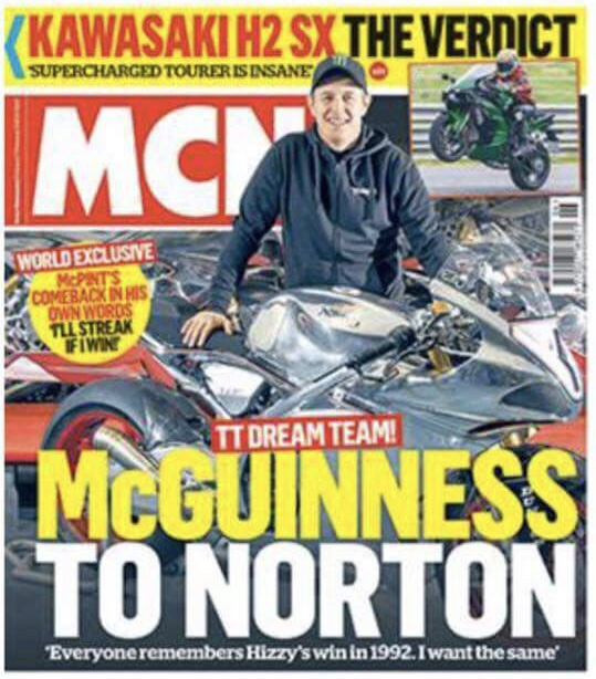 John McGuinness to Norton 2018?