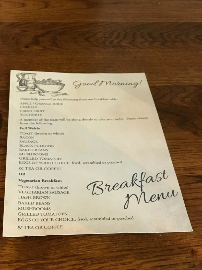 The Glengower Breakfast Menu