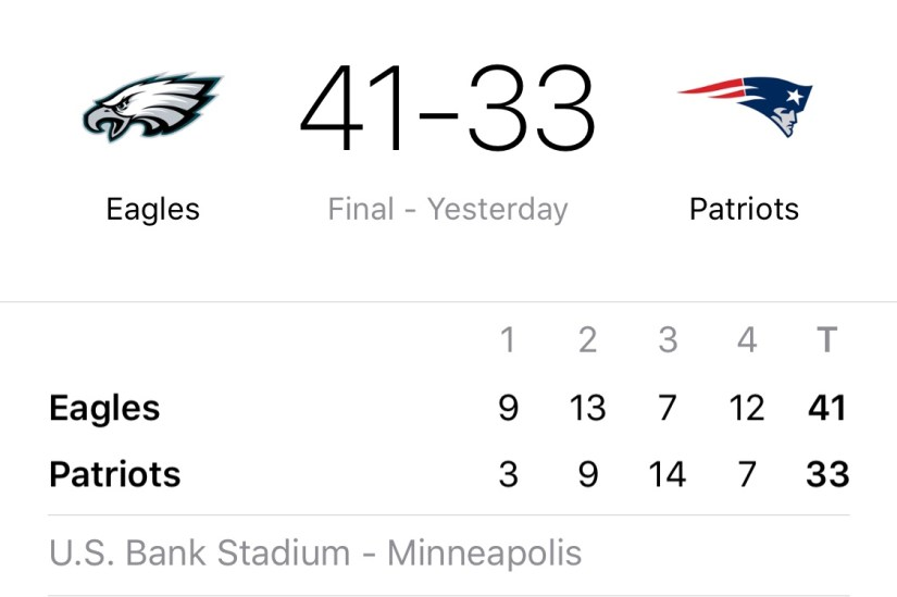 Philadelphia Eagles win Superbowl LII