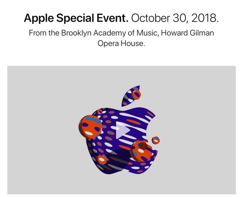 Apple Event - October 2018