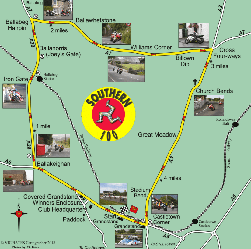 Southern 100 Circuit Map