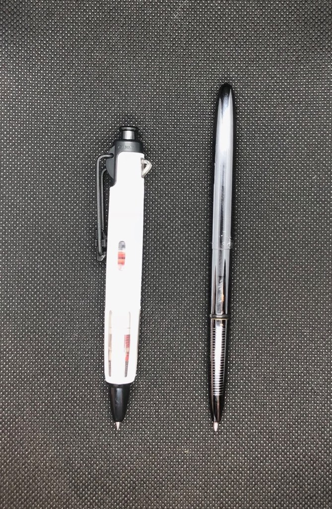 Airpress TomBow Pen Size Comparison v Fisher Space Pen Bullet
