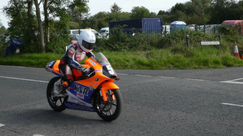 Melissa Kennedy in the 2019 Ulster Grand Prix Ultra Lightweights