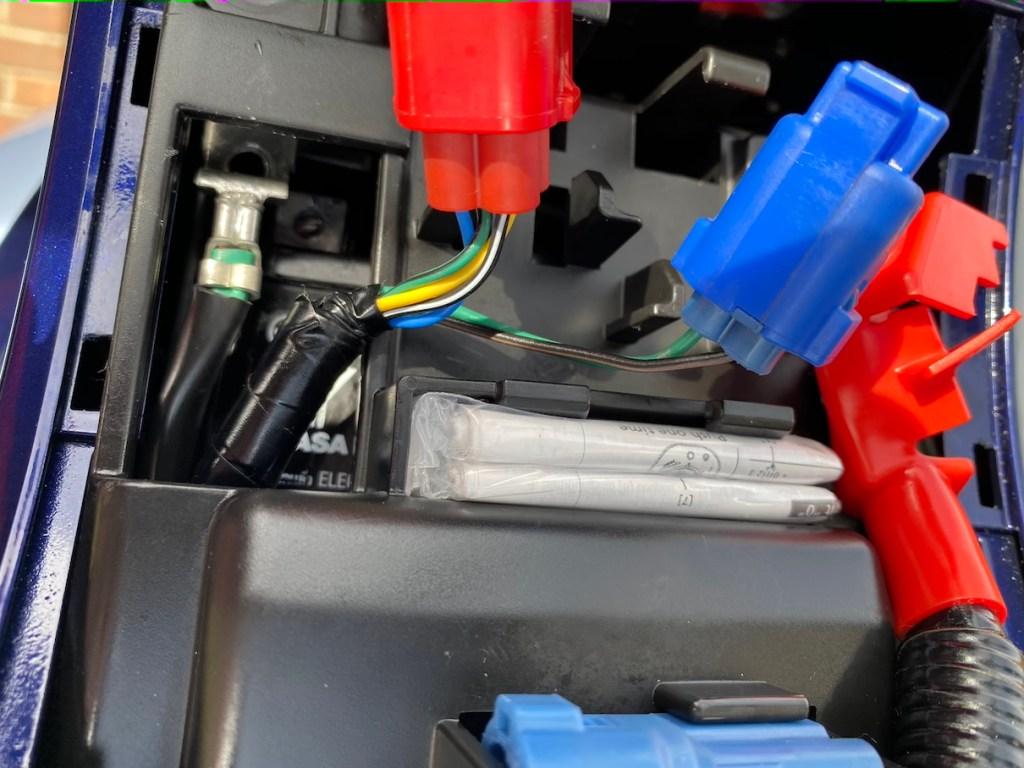 Honda C125A Super Cub Battery Compartment