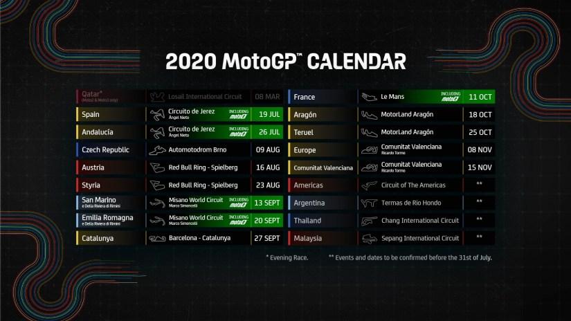 2020 Revised MotoGP Calendar