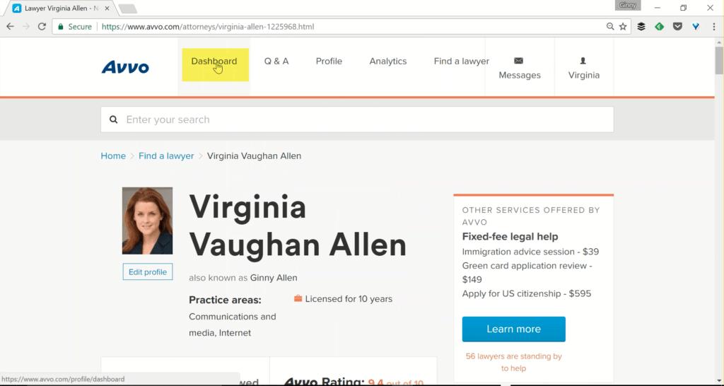 Avvo Attorney Profile - Ginny Allen