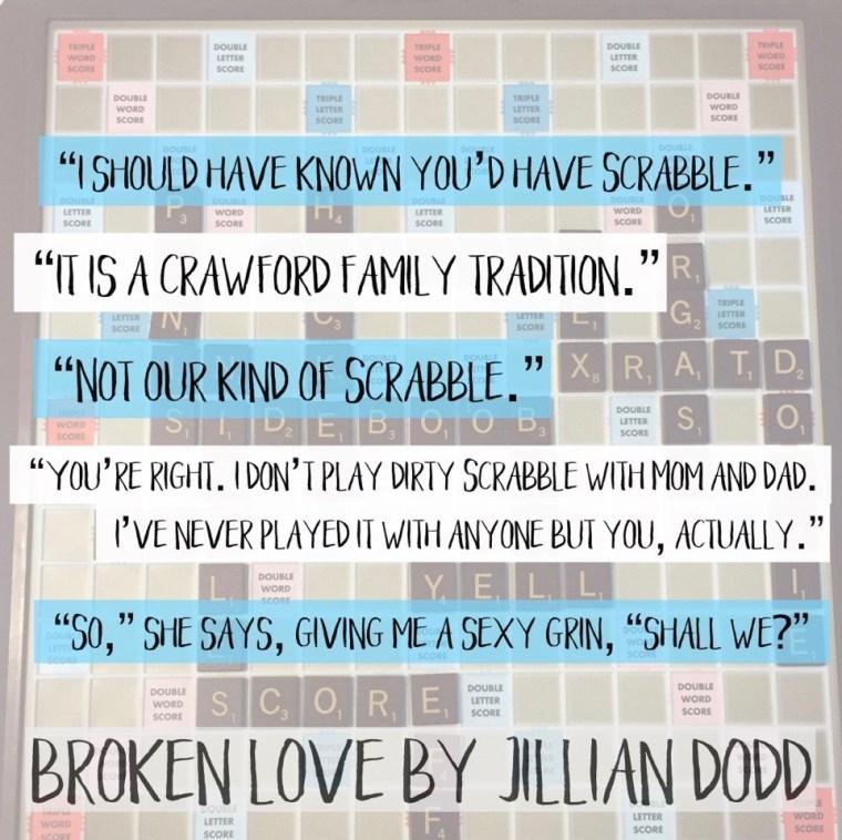 broken love scrabble teaser