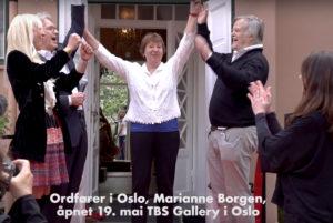 Offisiell åpning med Marianne Borgen