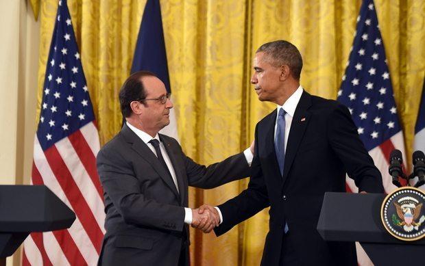 Hollande Obama press conference 24 Nov AFP