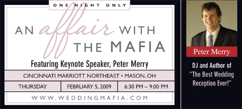 Wedding Mafia promo for Peter Merry