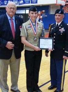 With Ernie and Lt Colonel Dan Bishop ETSU ROTC