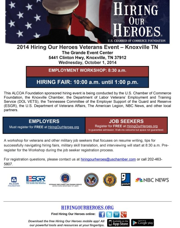 Knoxville Flyer Hiring Our Heroes