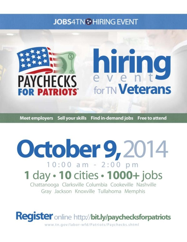 Paychecks for Patriots TN 2014