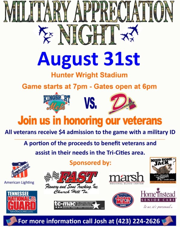 2015 Military Appreciation Game Updated