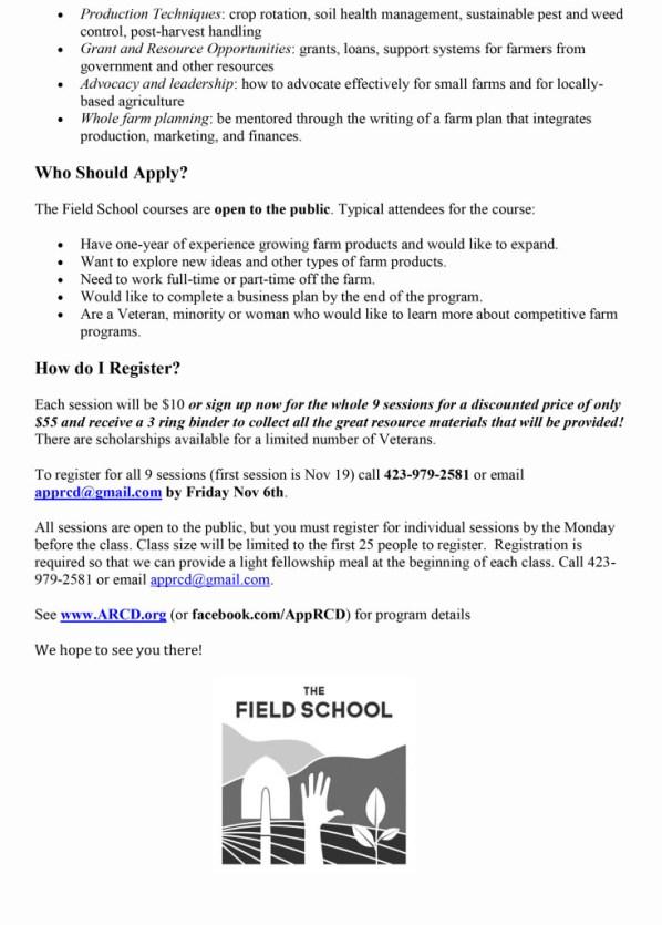 Field School Article PR 10-12-15-2