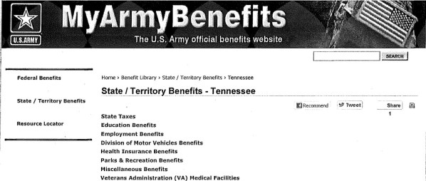TN State Benefits for Military-1