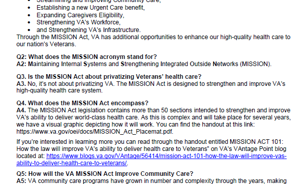 VA MISSION Act of 2018