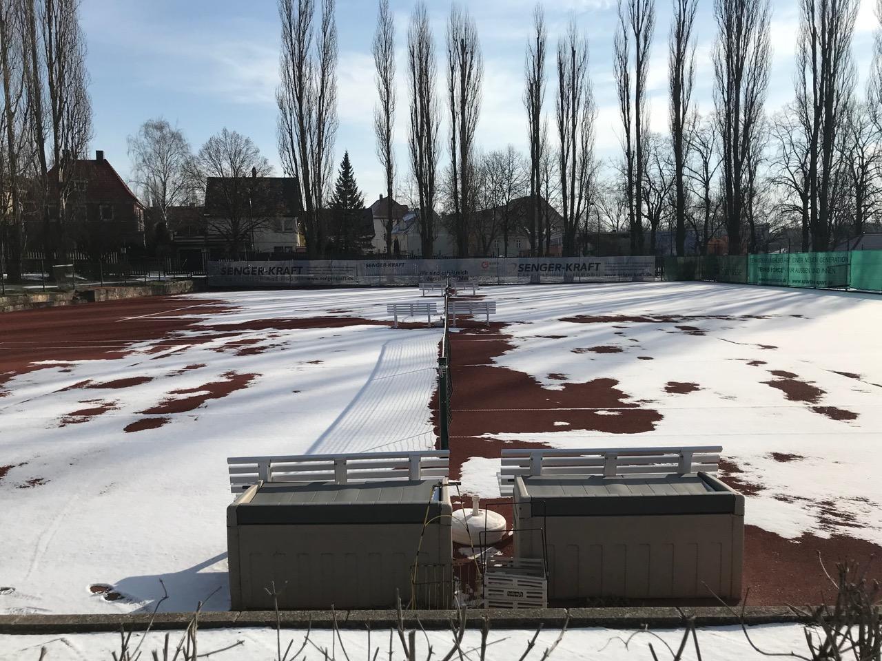 Anlage des TC Weimar in den Wintermonaten geschlossen