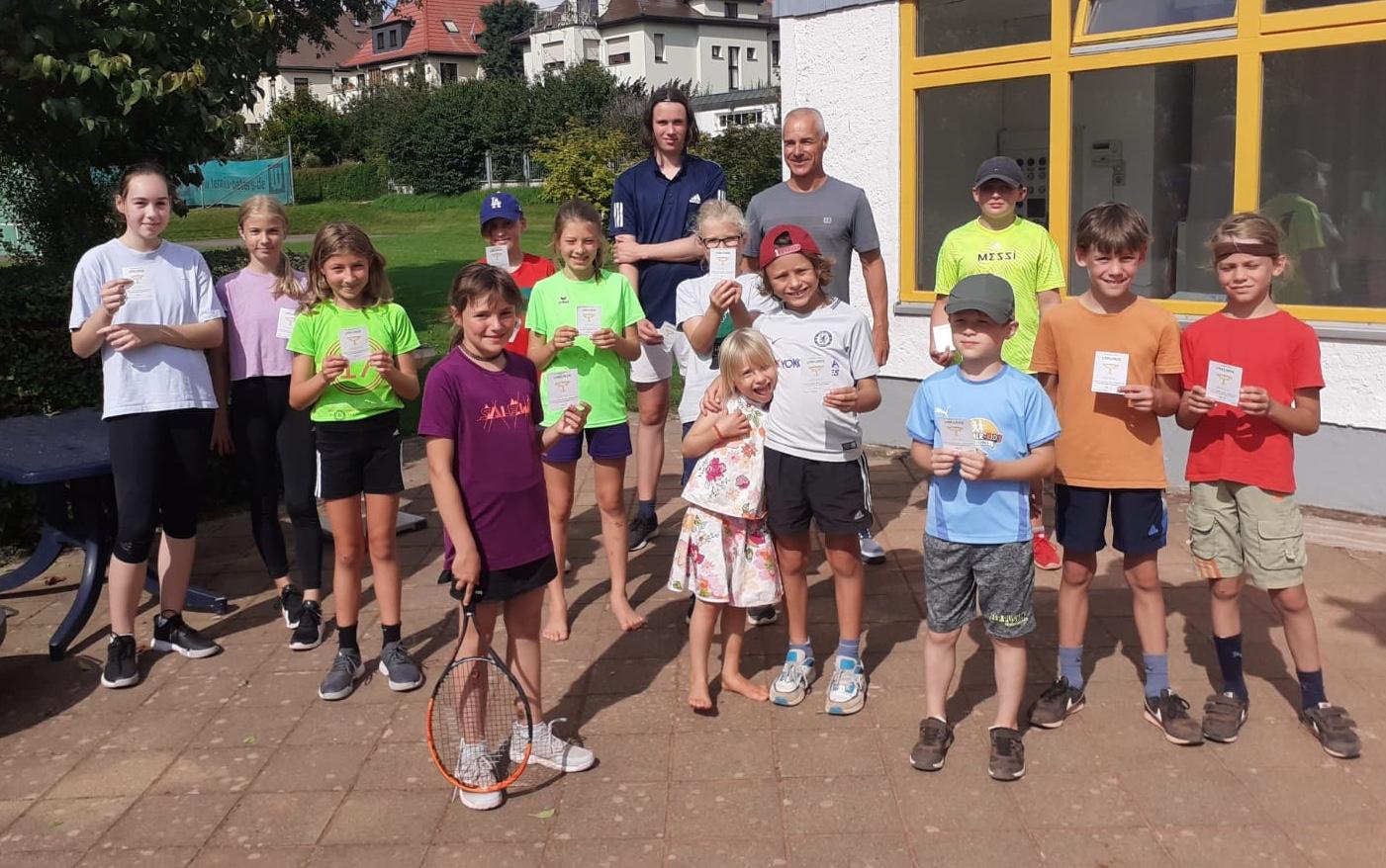 Gewinner des 4. vereinsinternen Kinder- und Jugendturniers 2021
